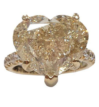10-carat diamond heart