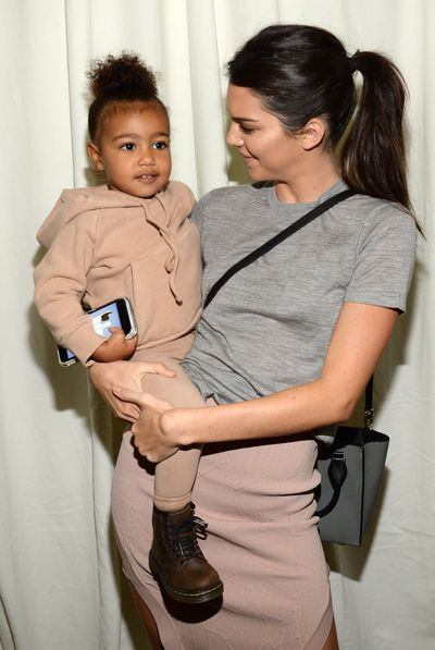 North West and Kendall Jenner.