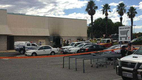 Emergency services attend the scene of an explosion at Morley. (9NEWS)