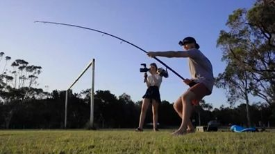 Why Byron Bay man tested fishing rod on girlfriend