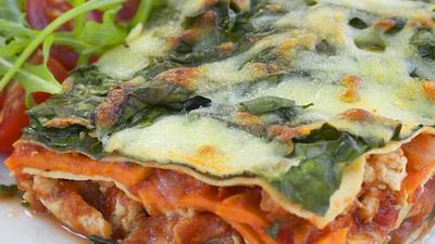 Chicken and kumara lasagne