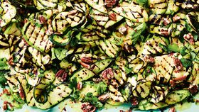Luke Hines' charred zucchini with lemon and chilli