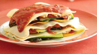 Roast vegetable lasagne stacks