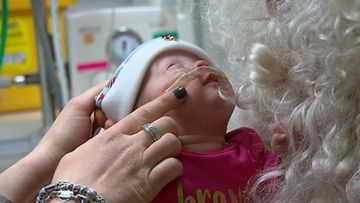 Premature babies treated to handmade Christmas hats