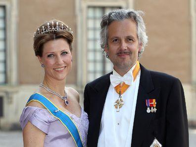 Princess Märtha Louise and her late-husband Ari Behn at the wedding of Princess Madeleine of Sweden.