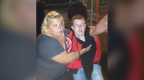 Daniel said he turned around to find a police officer spraying him in the face. (9NEWS)