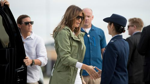 The First Lady made a surprise visit to Texas. Picture: AAP