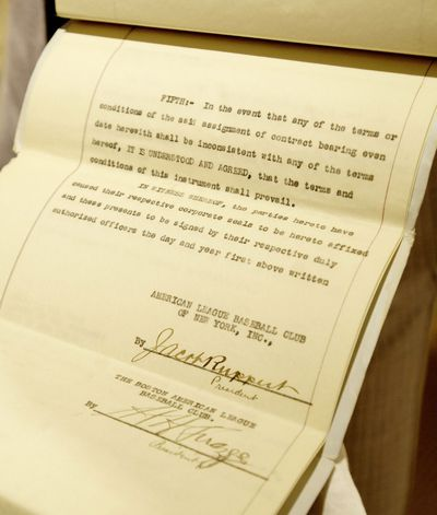 Babe Ruth's Yankee Contract