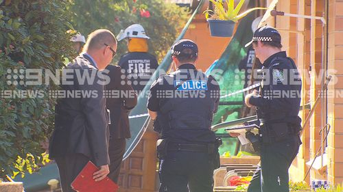 The blaze is being treated as suspicious. Picture: 9NEWS