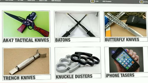 Weapons allegedly imported by the Narre Warren teenager have made it into Australia. (9NEWS)