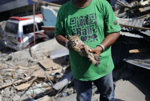 Thousands have been left homeless after an earthquake and tsunami devastated the Indonesian island of Sulawesi.