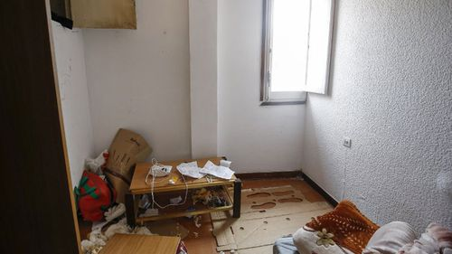 The room where Abdelbaki Es Satty stayed at a flat in Ripoll. (AFP)