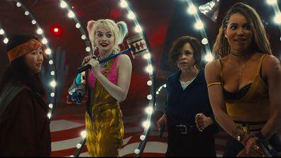 Birds of Prey movie scene Harley Quinn, Cassandra Cain, Rosie Perez, Jurnee Smollett-Bell