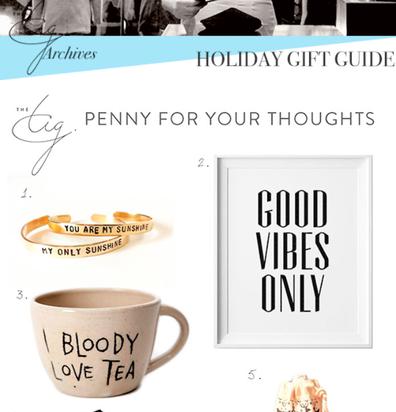 Meghan Markle Christmas gift guide 2014, The Tig