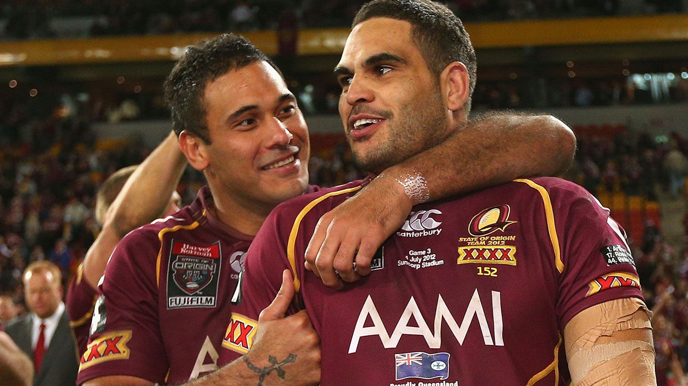 Greg Inglis and Justin Hodges 2012