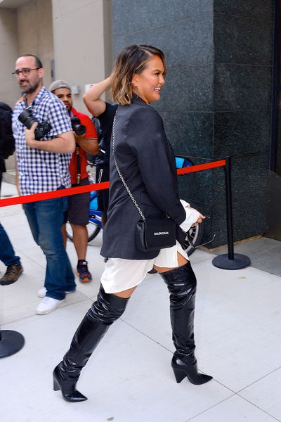 Chrissy on her way to an interview with Build Series in Manhattan, New York, September 19.