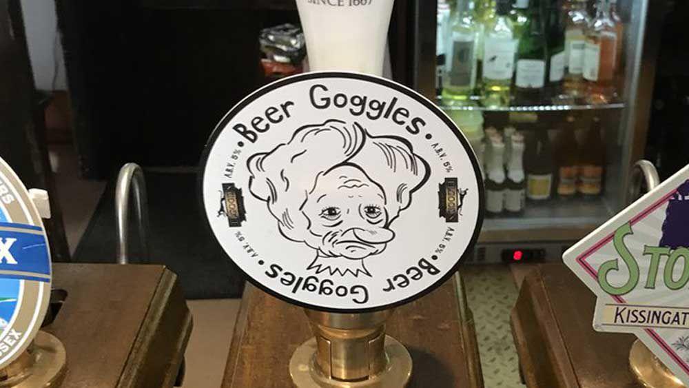 Kings Arms (Horsham, UK) offensive beer tap