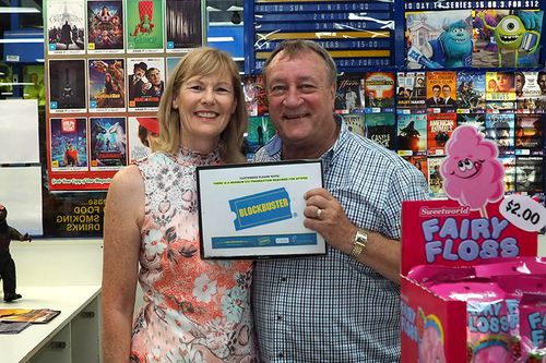 Lyn and John Borszeky are closing the last Blockbuster store in Australia. The store in the Perth suburb of Morley will cease trading at the end of this month.(Lyn Borszeky)