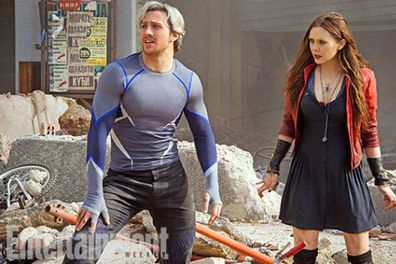 The brand-new movie brings with it some brand-new faces...who you might recognise from the post-credits scene of<i> Captain America: The Winter Soldier</i>. <br/><br/>So who are they? On the left is Quicksilver (Aaron Taylor-Johnson) who is gifted with superhuman speed. Then there's his twin sister Scarlet Witch (Elizabeth Olsen) who's telekinetic...not to mention handy at weaving badass spells. We can't wait to meet these guys!