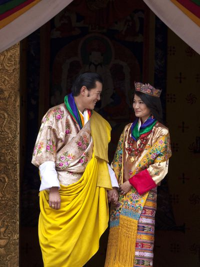 King Jigme of Bhutan and Jetsun Pema, October 13 2011