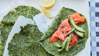 """<a href=""""http://kitchen.nine.com.au/2017/03/06/16/25/energy-boosting-spelt-and-spinach-crepes-with-avocado"""" target=""""_top"""">Energy-boosting spelt and spinach crepes with avocado</a> recipe"""