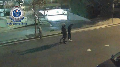 Two 19-year-old and a 20-year-old have been caught. Three girls were also captured on CCTV, and have contacted police. Picture: 9NEWS