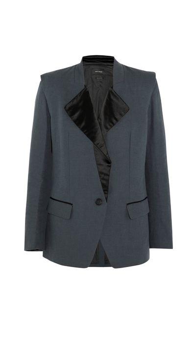 <p>A boyfriend jacket</p>