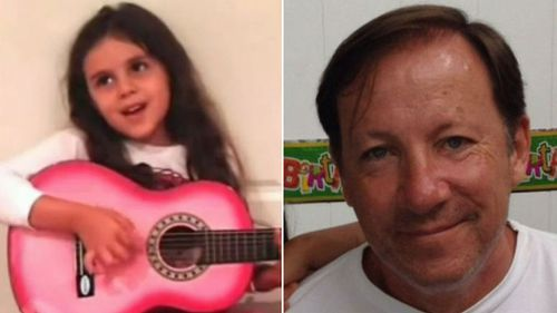 Sidney Playford was murdered by her father Stephen (right). (Images: Supplied)