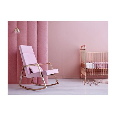 "<a href=""http://www.lifeinteriors.com.au/incy-interiors-incy-x-hobbe-rocker-blush"" target=""_blank"">Incy Interiors Hobbe Rocker in Blush, $1299.</a>"