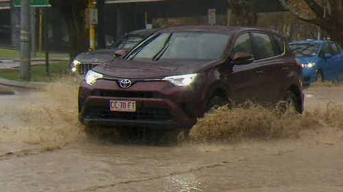 The heavy rainfall could cause dangerous road conditions. (9NEWS)