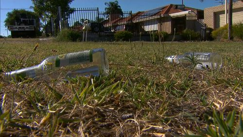Rubbish was left strewn around the party after police were called in to disperse people.