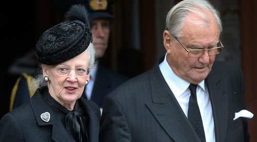 Queen Margrethe and Prince Henrik. (AAP)