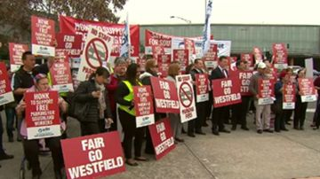 Shopping centre staff protest 'greedy' new parking fees
