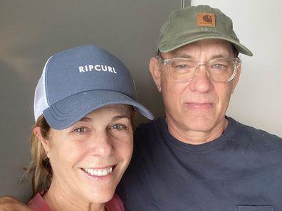 Tom Hanks, Rita Wilson, coronavirus, selfie, hospital