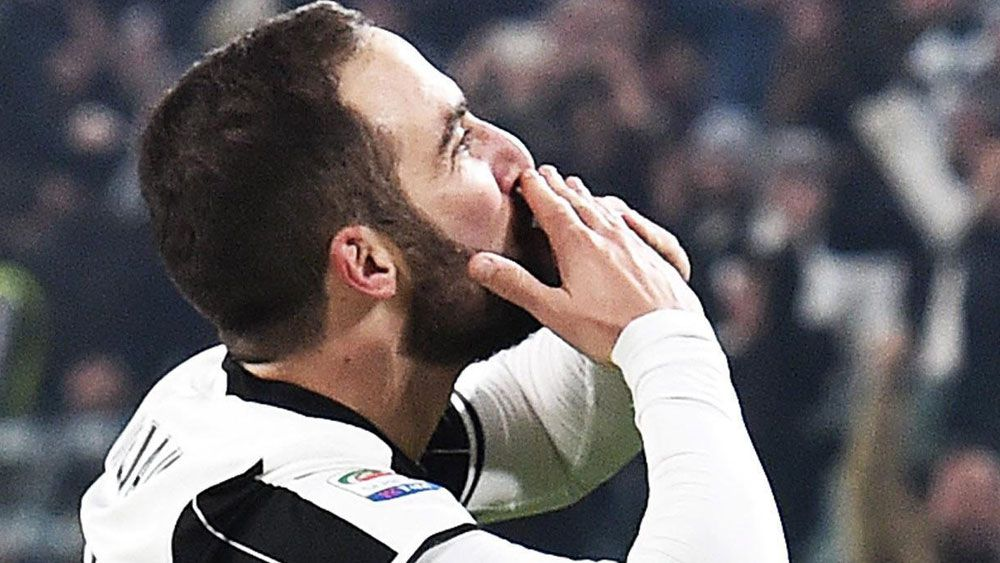 Gonzalo Higuain starred for Juventus. (AAP)