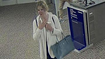Salt Lake City International Airport video provided by the Salt Lake City Police Department shows Mackenzie Lueck.