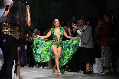 JLo back in her iconic Versace gown