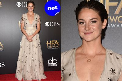 Self-proclaimed hippie Shailene Woodley just didn't look red carpet ready at the Hollywood Film Awards.