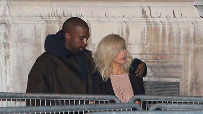 Kardashian and husband West in Paris for Fashion Week. (AAP)