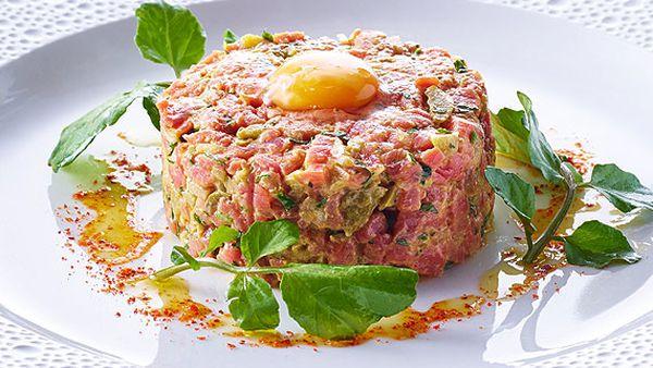 Neil Martin's steak tartar with quail egg