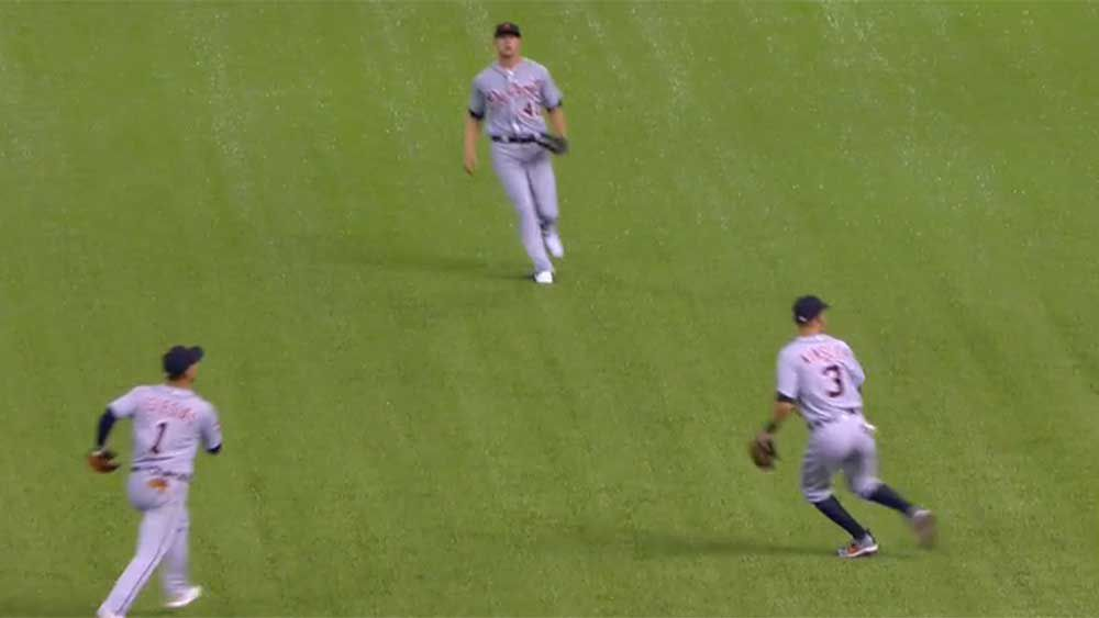 Baseball player caught out by sly fan