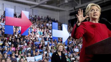 Hillary Clinton campaigns in Ottawa County, Michigan, a county that hasn't supported a Democrat for president since 1864. (AP)