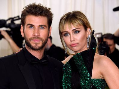 Miley Cyrus, Liam Hemsworth, Metropolitan Museum of Art Costume Institute Benefit Gala, 2019, New York, USA