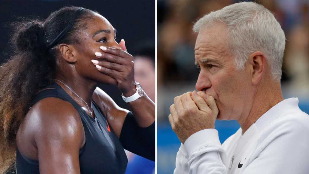 McEnroe delivers a backhander to World No.700 Serena