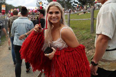 Festival goers at Byron Bay's Splendour in the Grass July 2018
