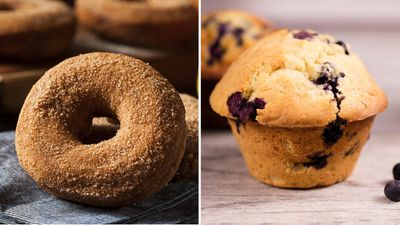 <strong>One cinnamon donut or one blueberry muffin?</strong>
