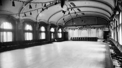 The ballroom inside Flinders Street Station has seen better days. (Supplied)