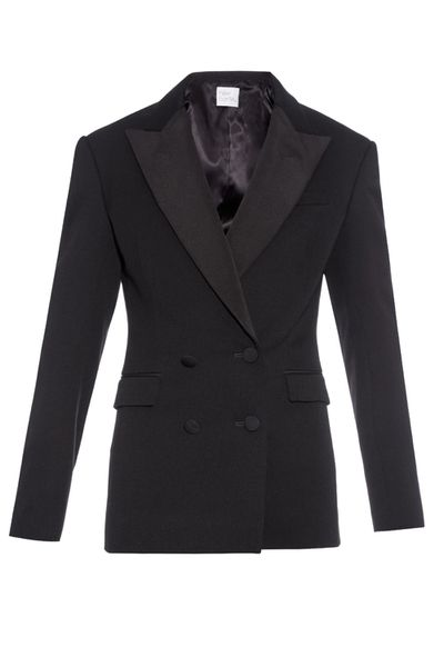 <p>A true investment piece, the brand's take on the classic blazer is a double-breasted tuxedo style.</p>