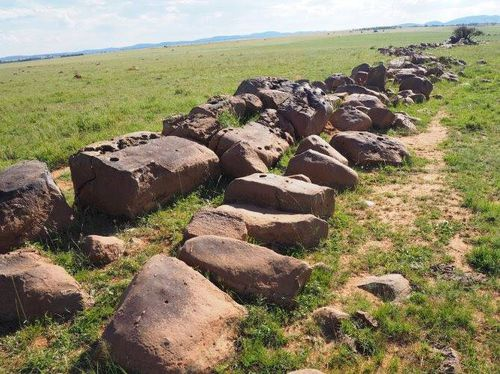 The floor of the crater is marked by granophyre dykes. Picture: University of the Free State
