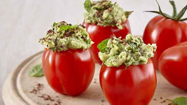 Avocado and sumac spiced stuffed pepper tom